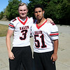 HADLEY GREEN/Staff photo<br /> Captains Tyler Skeffington and Felix Cruz<br /> <br /> Salem High Football Mugshots. 08/30/17