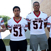 HADLEY GREEN/Staff photo<br /> Tyler Skeffington, Felix Cruz, Joe Diaz, Jonny Rodriguez<br /> <br /> Salem High Football Mugshots. 08/30/17