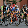 RYAN HUTTON/ Staff photo<br /> Racers dash down South Washington Square during the women's professional race of the 10th Annual Witches Cup bicycle race around Salem Common on Wednesday night.