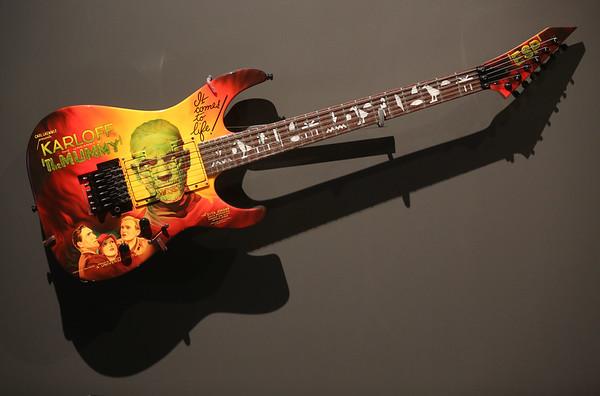 Horror movie poster collection of Metallica guitarist Kirk Hammett