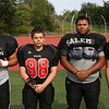 MIKE SPRINGER/Staff photo<br /> Salem Witches varsity football players, from left: Matt Noonan, Justin Sapozhnik, Melkin Bautista and Luis Ramirez.<br /> 8/25/2018