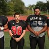 MIKE SPRINGER/Staff photo<br /> Salem Witches varsity football players, from left: Matt Noonan, Justin Sapozhnik, Melkin Bautista and Luis Ramirez.<br /> 8/25/2018