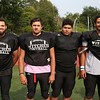 MIKE SPRINGER/Staff photo<br /> Salem Witches varsity football players, from left: Jayco Pena, Brandon Harvey, Irvin Tineo and Darwin Fernandez.<br /> 8/25/2018