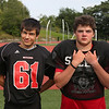 MIKE SPRINGER/Staff photo<br /> Salem Witches varsity football players, from left: Riley Sullivan and Connor McRae.<br /> 8/25/2018