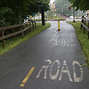 TIM JEAN/Staff photo<br /> <br /> A section of the Peabody Independence Greenway, a walking/ bike trail where it intersects with Prospect Street in Peabody. The city has received a grant to move forward with a project to expand the trail to the downtown.   8/22/18