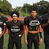 MIKE SPRINGER/Staff photo<br /> Salem Witches varsity football players, from left: Wayne Holloway, Jaydrian Garcia, Nate Minaya and Sam-Lauren O'Furie.<br /> 8/25/2018