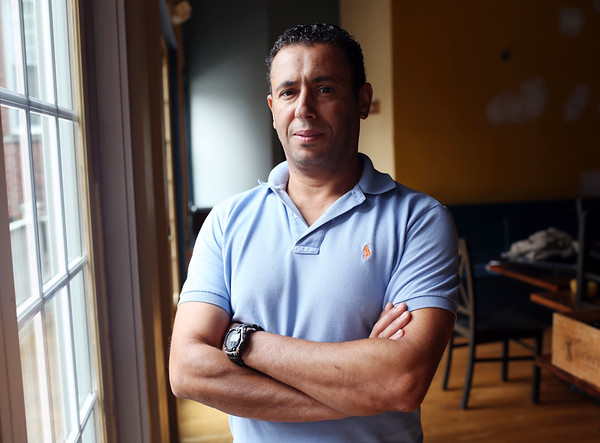 HADLEY GREEN/Staff photo<br /> Nasser Belghit is the owner of Blue Fez, a new Moroccan restaurant that will open in the former space of The Naumkeag Ordinary on Washington Street in Salem.<br /> <br /> 08/21/2018