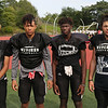 MIKE SPRINGER/Staff photo<br /> Salem Witches varsity football players, from left: Ethan Garcia, Devin Tolbert, Frederick Koffi and Camrin Pagliaro.<br /> 8/25/2018
