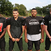 MIKE SPRINGER/Staff photo<br /> Salem Witches varsity football players, from left: Tyrese Elmidor, Noah Galeota, Markin Bautista and Patrick Boardway.<br /> 8/25/2018