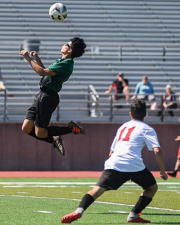 Salem Academy vs Salem High School soccer scrimmage