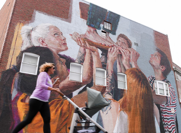 Ribbon cutting and dedication for Cabot murals