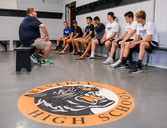North Shore quarterbacks talk for Salem News 2019 Football tab story