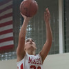 SAM GORESH/Staff photo. Masconomet freshman Tia Bernard goes up for a basket in their game against Beverly in the Masconomet Girls Basketball Holiday Invitational. 12/27/16
