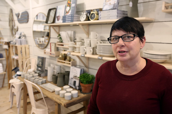 Kate Leavy of Field House which is a new business on Cabot Street in Beverly.