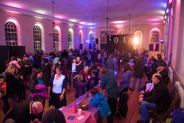 SAM GORESH/Staff photo. Crowds packed the Old Town Hall for Salem Main Streets' Launch New Year's Eve event. 12/31/16