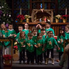 "SAM GORESH/Staff photo. The Star Chorus sings in ""All About that Baby,"" at Holy Trinity United Methodist Church in Danvers. ""All About that Baby,"" tells the story of the Nativity through the perspective of a Shepherd named Nathaniel and his taking sheep. 12/24/16"