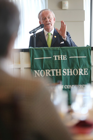 the North Shore Chamber of Commerce breakfast held at the Ipswich Country Club.