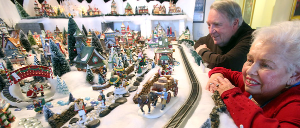 Brooksby Village residents build 15-foot-long North Pole Village for the holidays -- ROP