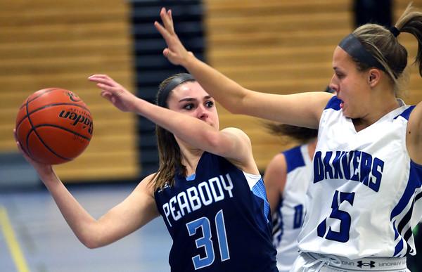 Peabody at Danvers girls basketball game