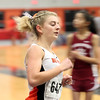 DAVID LE/Staff photo. Beverly senior Lexi Sutyak leads the pack in the girls mile race on Tuesday afternoon. 12/20/16