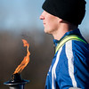 SAM GORESH/Staff photo. Recruit Sean Golsing of the Essex County Sheriffs Department Academy holds a torch that will be passed between the recruits as they run the Law Enforcement Torch Run at Analogic benefitting the Special Olympics. 12/4/16