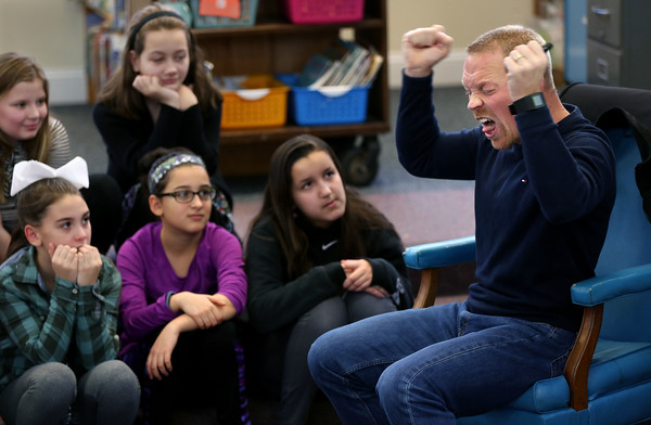 Smith School fifth grade students welcome author Rob Buyea to Smith School