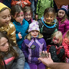 Children react to seeing a tarantula at the Curious Creatures show at the YMCA at Beverly's New Year's celebration on Cabot Street. 12/30/16