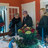 SAM GORESH/Staff photo. From left: Karen Jellison, Nancy Beirne and Elaine Jellison admire the dining room in the Jonathan Kimball House during the Christmas in Salem House Tour. 12/4/16