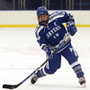 HADLEY GREEN/Staff photo<br /> Danvers' Nicolas DiScillo (18) shoots at the Marblehead v. Danvers boys hockey game at the Rockett Arena. <br /> <br /> 12/23/17