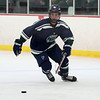 HADLEY GREEN/Staff photo<br /> Pingree's Paul Duffy (18) moves the puck at the Pingree v. Berwick Academy boys hockey game at the Pingree School.