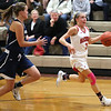 HADLEY GREEN/Staff photo<br /> Masconomet's Makayla Graves (3) dribbles down the court at the Masconomet v. Hamilton-Wenham girls basketball game at Masconomet High School.