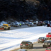 HADLEY GREEN/Staff photo<br /> A five-car crash shut down Route 95 southbound in Boxford.<br /> <br /> 12/23/17