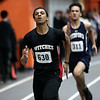 HADLEY GREEN/Staff photo<br /> Salem's Andre Calixte sprints at the track meet at Beverly High School.