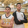 AMANDA SABGA/Staff photo. <br /> <br /> Former Hamilton-Wenham standout twins Marcus and Max Zegarowski, now playing for Tilton Academy, pose before  a game against Springfield Commonwealth at Gordon College.<br /> <br /> 12/9/17