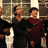 HADLEY GREEN/Staff photo<br /> Salem High's acapella group, WitchPitch, performs holiday songs at the 24th annual holiday party for Salem Children's Charity at the Hawthorne Hotel.