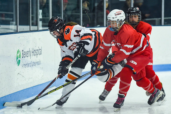 Masconomet at Beverly girls varsity hockey game