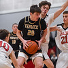 Bishop Fenwick at Marblehead varsity boys basketball game