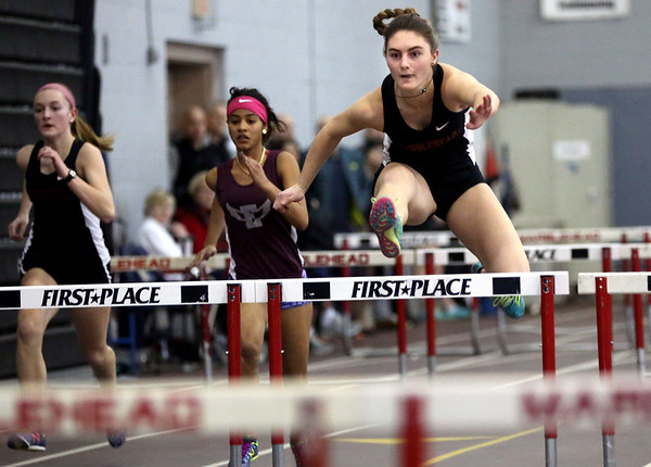 Lynn English at Marblehead co-ed indoor track meet