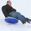 sledding at the Carroll School in Peabody