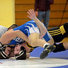 RYAN HUTTON/ Staff photo<br /> during Wednesday night's wrestling match at Danvers High.