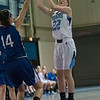 SAM GORESH/Staff photo. Peabody junior Julia Boudreaux shoots the ball in their game against Danvers at Peabody High School. 2/3/17