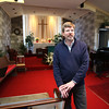 KEN YUSZKUS / Photo.   Greg Carmer is the new pastor at the Church in the Cove, in Beverly.     2/6/17