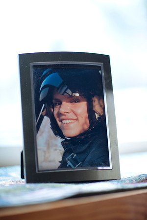A photo of Jennifer in the Marines on the window sill of the Harris residence. Jared Charney / Photo