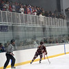 HADLEY GREEN/Staff photo<br /> Fans watch the 10th annual Derek Hines Memorial Game between St. John's Prep and Newburyport High School at the Essex Sports Center. <br /> <br /> 02/10/18