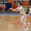 RYAN HUTTON/ Staff photo<br /> Beverly's Kyle Camara fires a shot to a teammate during the second quarter of the Larry McIntire Classic against MASCO at Beverly High School on Monday.