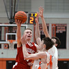 RYAN HUTTON/ Staff photo<br /> MASCO's William Hunter goes up for a shot on the Beverly hoop during the first quarter of the Larry McIntire Classic at Beverly High School on Monday.