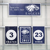 HADLEY GREEN/Staff photo<br /> St. John's Prep retired Derek Hines' number at the 10th annual Derek Hines Memorial Game at the Essex Sports Center. <br /> <br /> 02/10/18