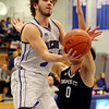 HADLEY GREEN/Staff photo<br /> Danvers' Edward Vaillancourt (5) shoots at the Danvers v. Swampscott boys basketball game at Danvers High School.<br /> <br /> 02/13/18