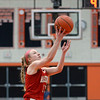 RYAN HUTTON/ Staff photo<br /> MASCO's Jenna DiPietro goes up the the Bishop Fenwick hoop during the second quarter of the Larry MacIntire Tournament final on Monday at Beverly High School.