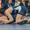 AMANDA SABGA/Staff photo<br /> <br /> St. John's Prep's Ryan Garlitz pins downCentral Catholic's Tyler Glynn is pinned down during the 138 weight class championship at the MIAA all-state wrestling meet at St. John's Prep in Danvers. <br /> <br /> <br /> 2/23/19